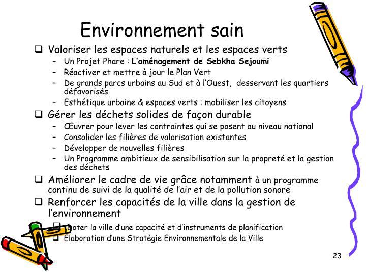 Environnement sain