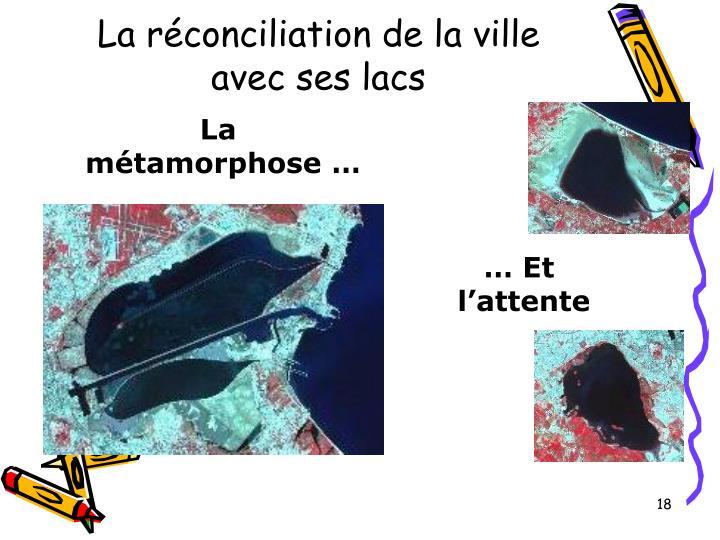 La réconciliation de la ville avec ses lacs