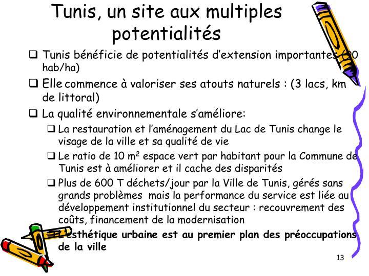 Tunis, un site aux multiples potentialités