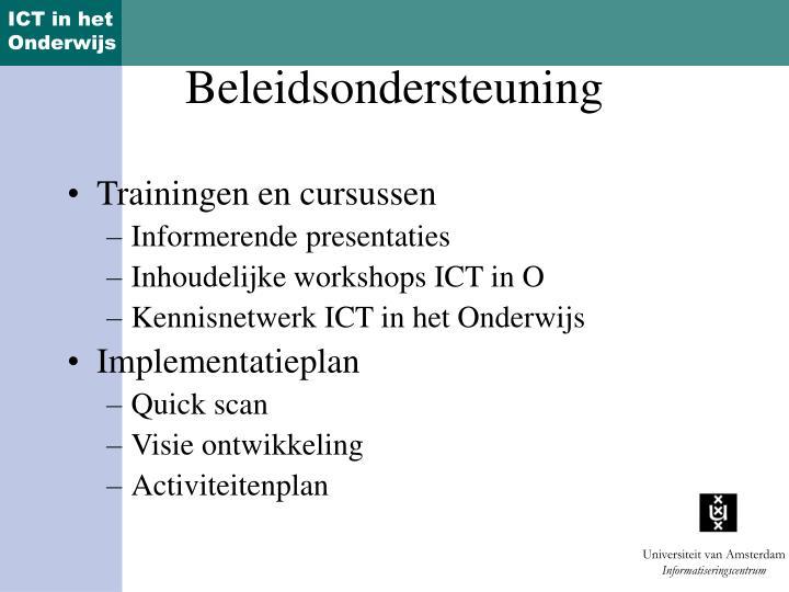 Trainingen en cursussen