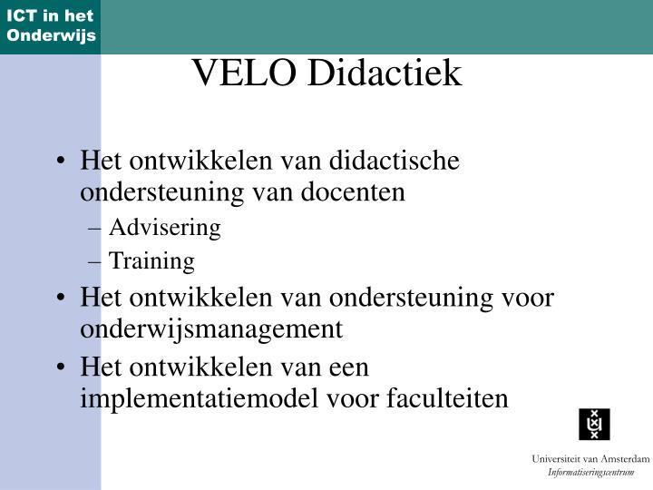 Het ontwikkelen van didactische ondersteuning van docenten