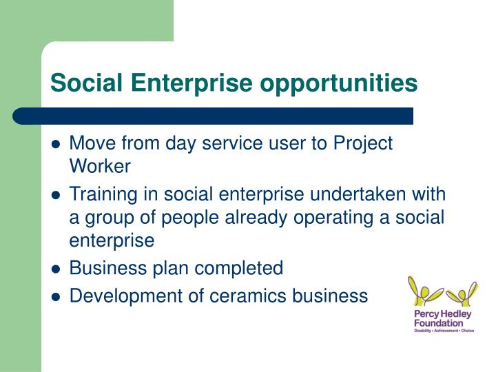 Social Enterprise opportunities
