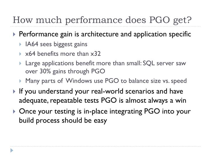 How much performance does PGO get?