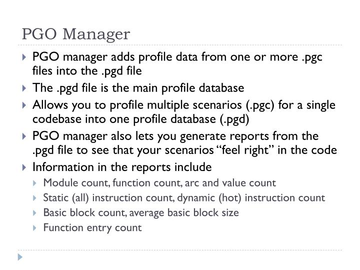 PGO Manager