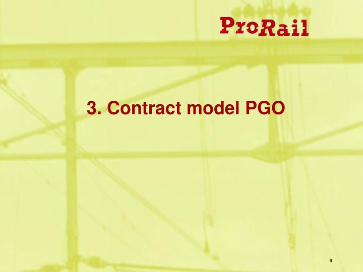 3. Contract model PGO