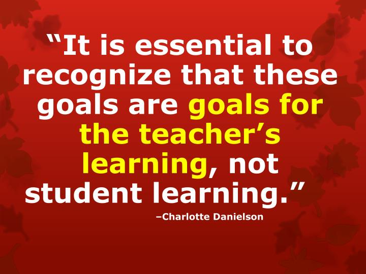 """""""It is essential to recognize that these goals are"""