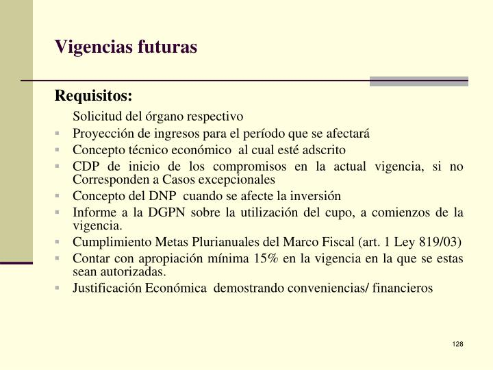 Vigencias futuras