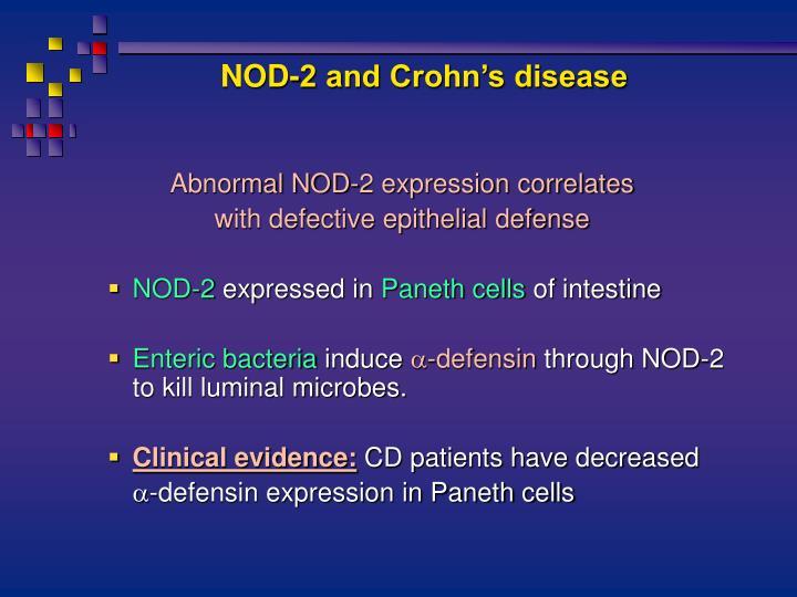 NOD-2 and Crohn's disease