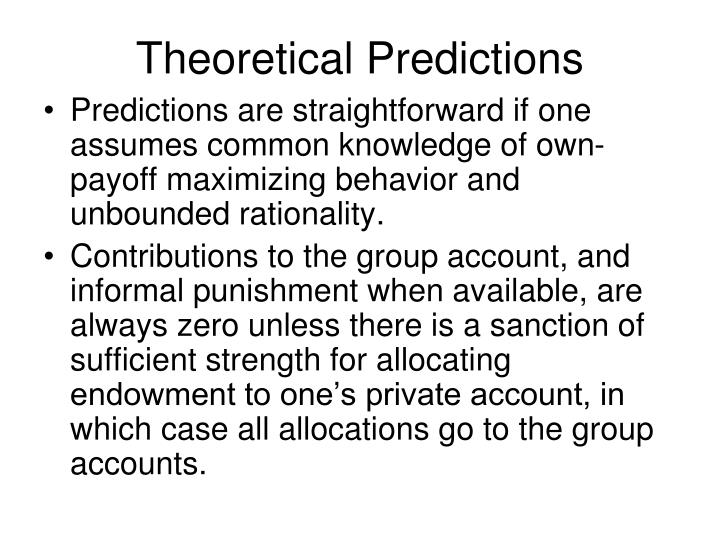 Theoretical Predictions