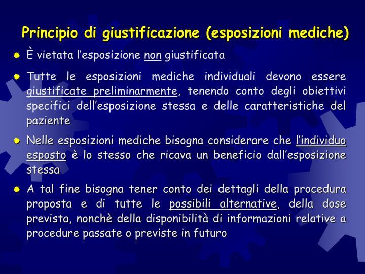 Principio di giustificazione (esposizioni mediche)