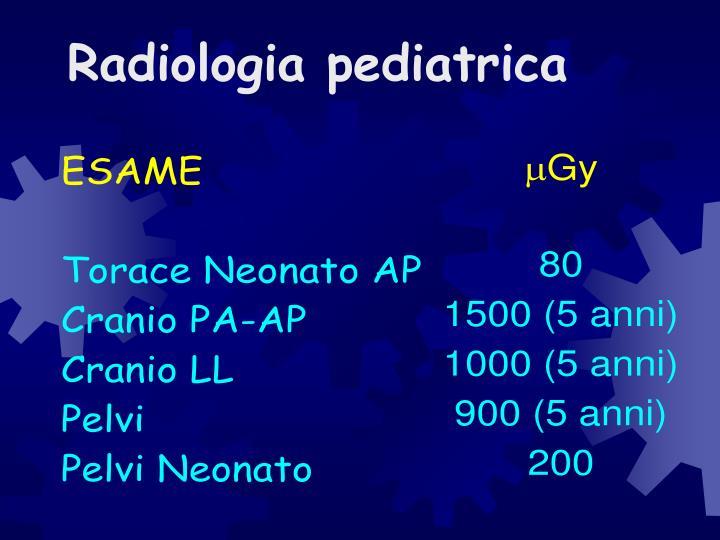 Radiologia pediatrica