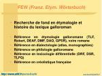 few franz etym w rterbuch2