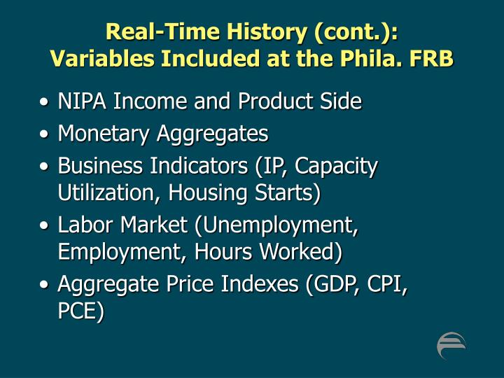 Real-Time History (cont.):