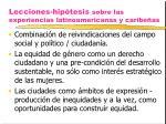 lecciones hip tesis sobre las experiencias latinoamericanas y caribe as