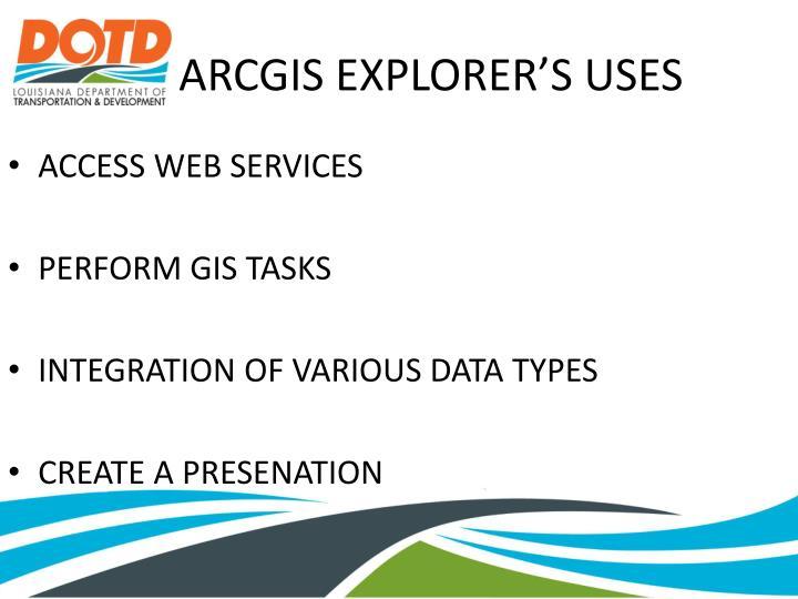 Arcgis explorer s uses