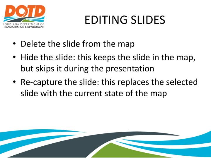 EDITING SLIDES