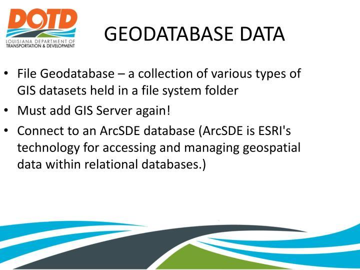 GEODATABASE DATA