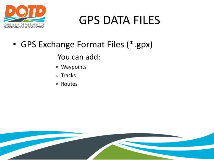 GPS DATA FILES