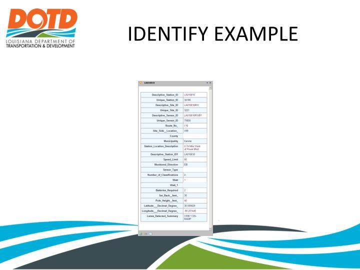 IDENTIFY EXAMPLE