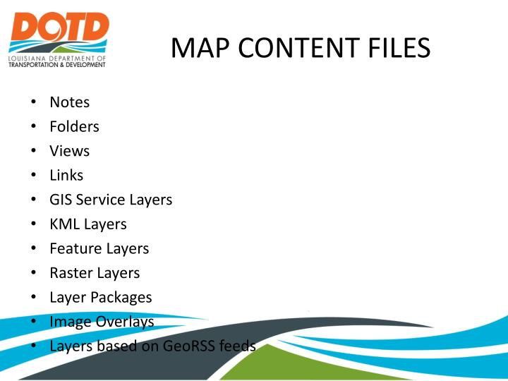 MAP CONTENT FILES