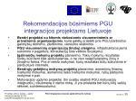 rekomendacijos b simiems pgu integracijos projektams lietuvoje