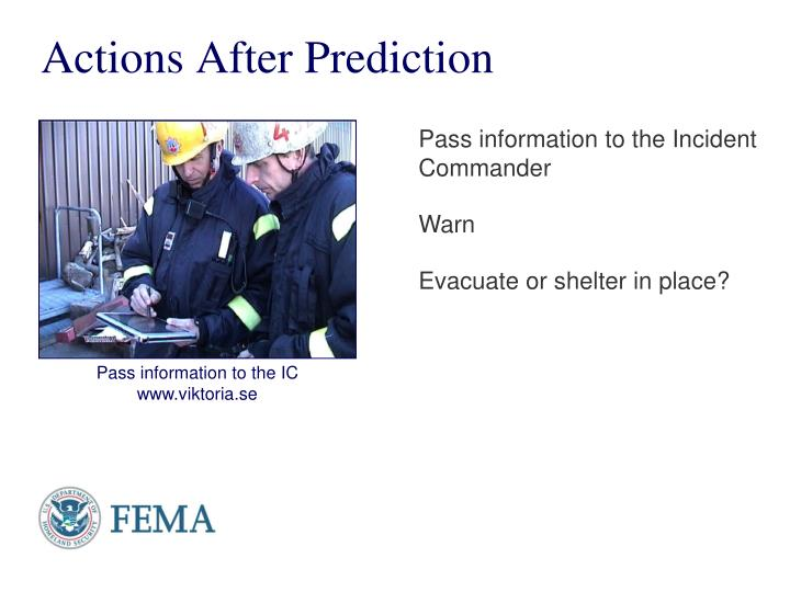 Actions After Prediction