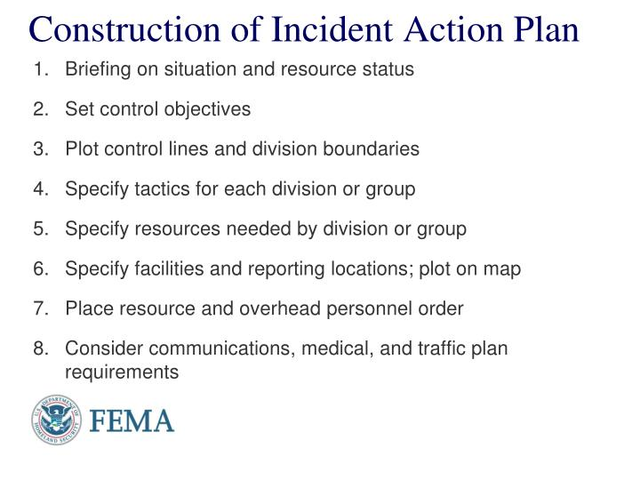 Construction of Incident Action Plan