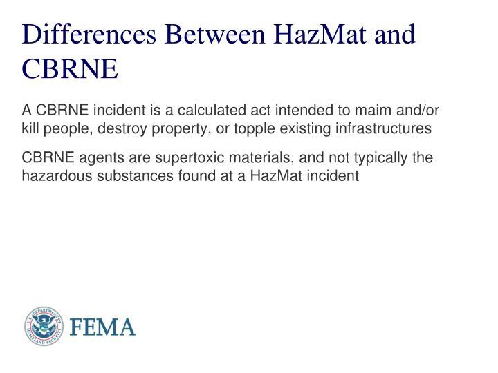 Differences Between HazMat and CBRNE