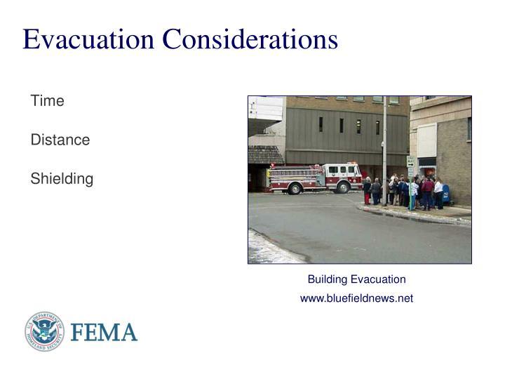 Evacuation Considerations