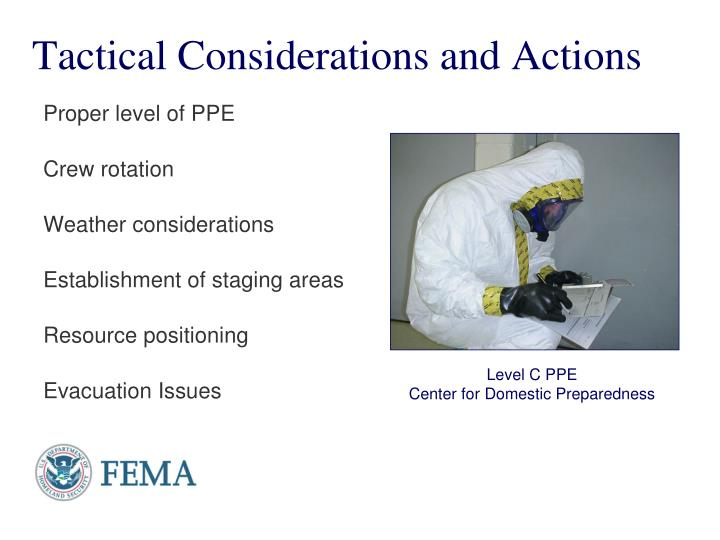 Tactical Considerations and Actions