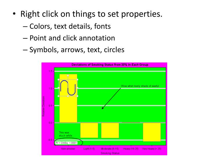 Right click on things to set properties.