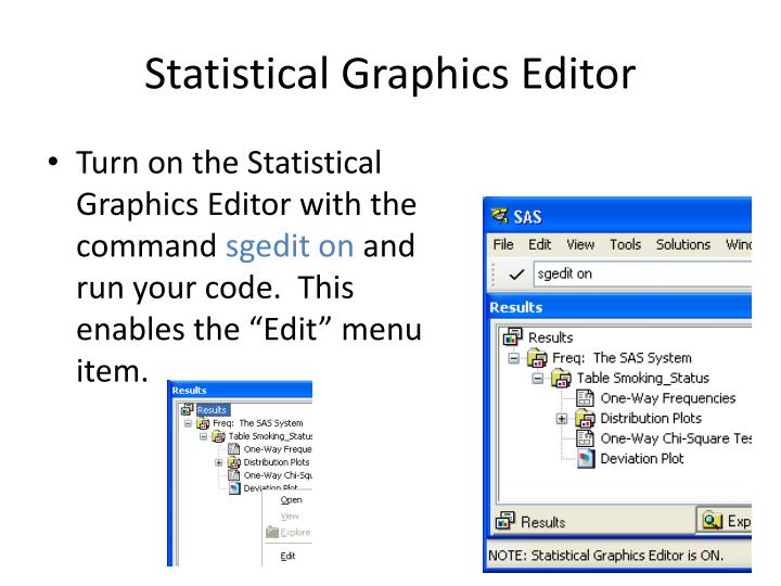 Statistical Graphics Editor