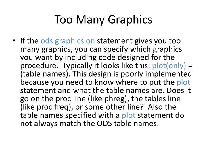 Too Many Graphics