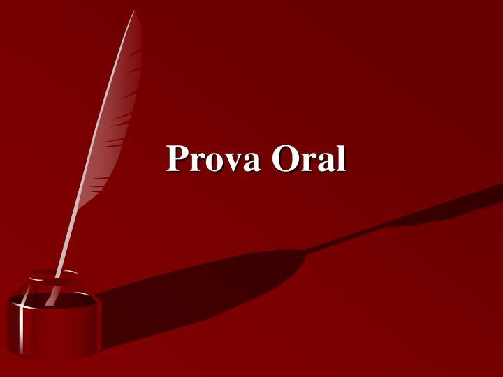 Prova Oral