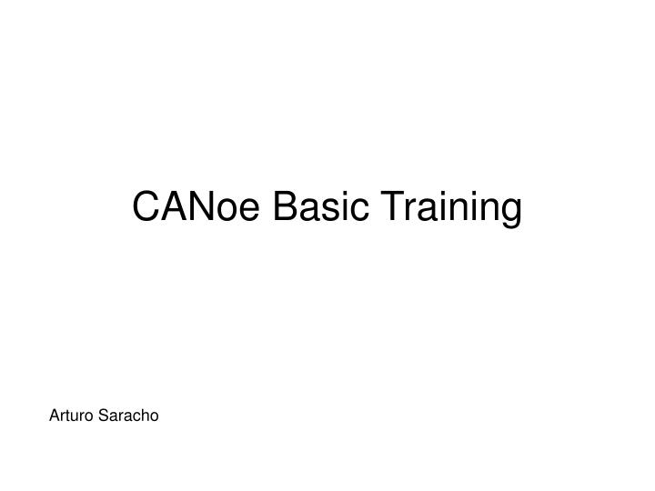 canoe basic training n.
