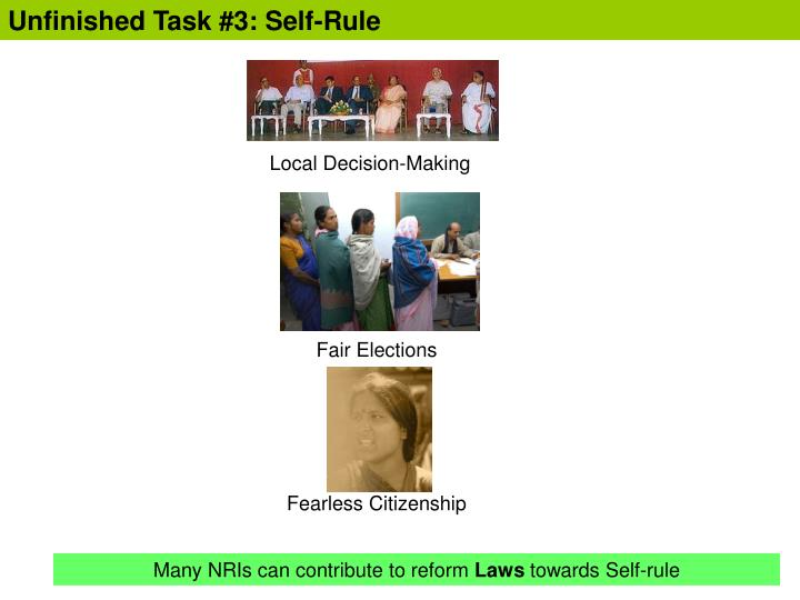 Unfinished Task #3: Self-Rule