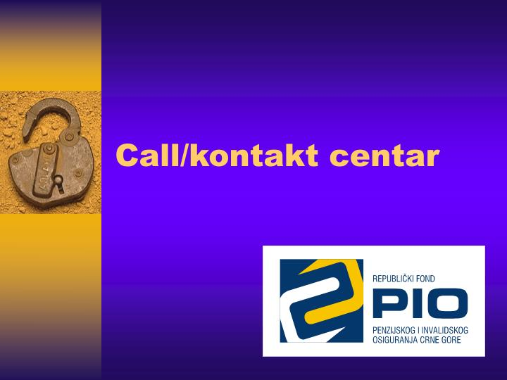 Call kontakt centar