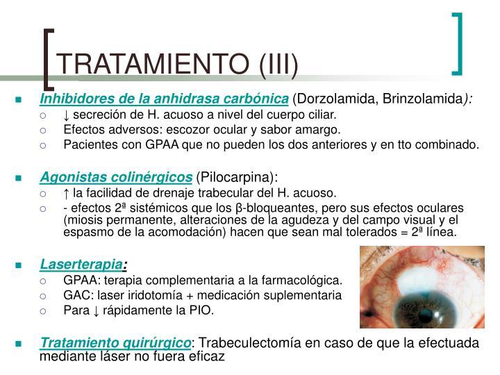 TRATAMIENTO (III)