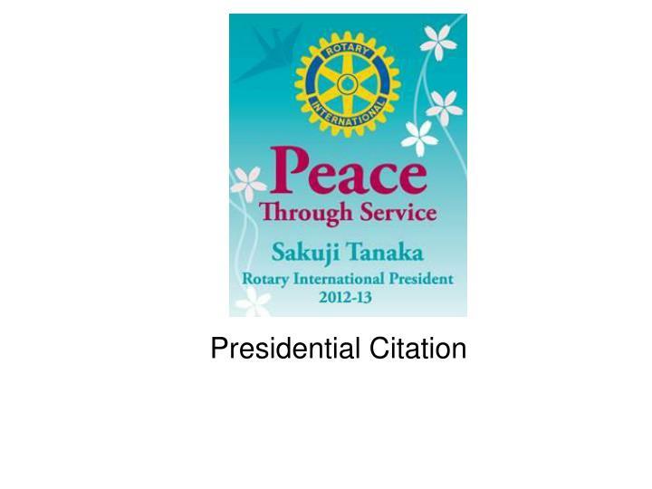 presidential citation n.