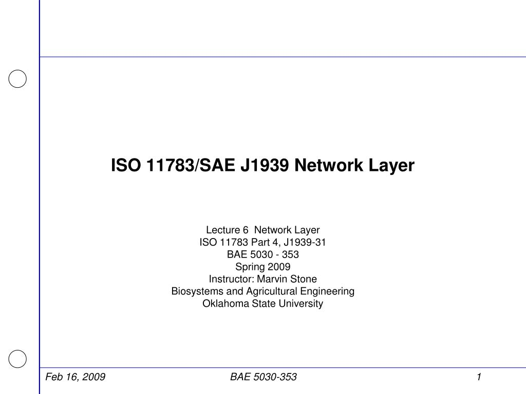 PPT - ISO 11783/SAE J1939 Network Layer PowerPoint Presentation - ID