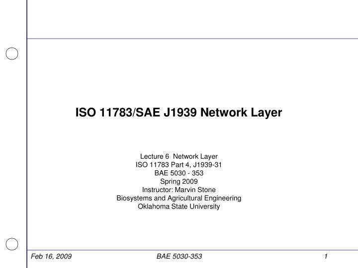 iso 11783 sae j1939 network layer n.