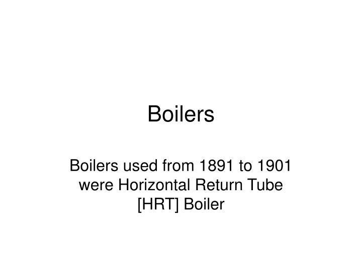 boilers n.