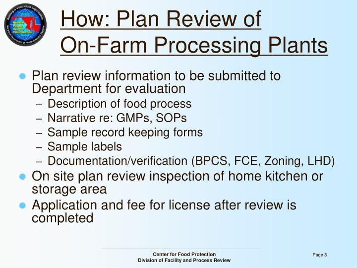 How: Plan Review of