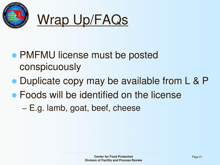 Wrap Up/FAQs