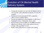 evolution of ca mental health delivery system1