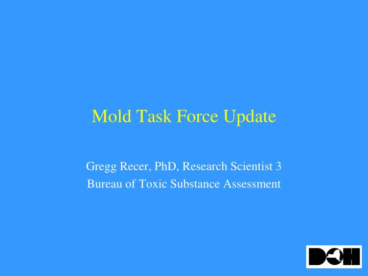mold task force update n.