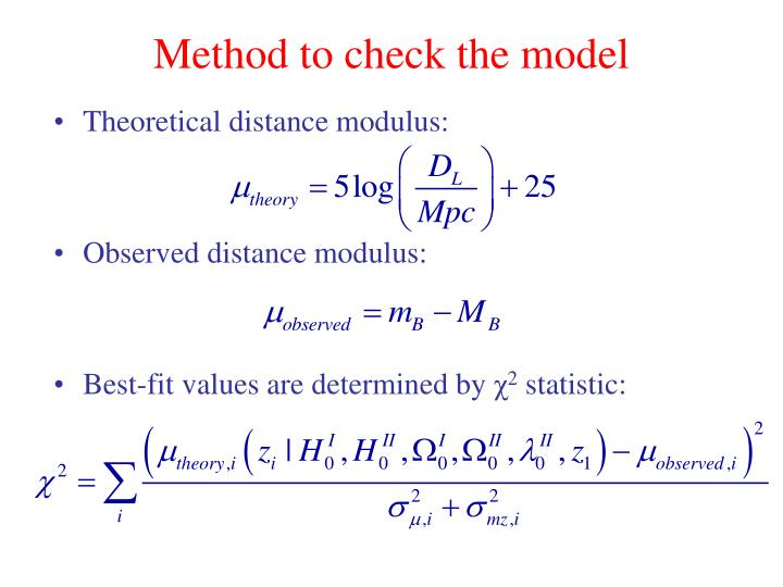Method to check the model