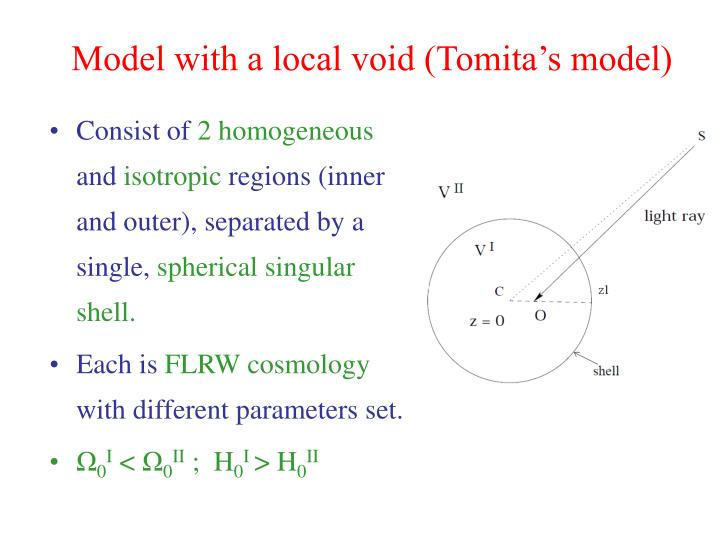 Model with a local void (Tomita's model)