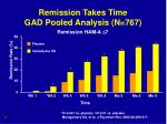 remission takes time gad pooled analysis n 767