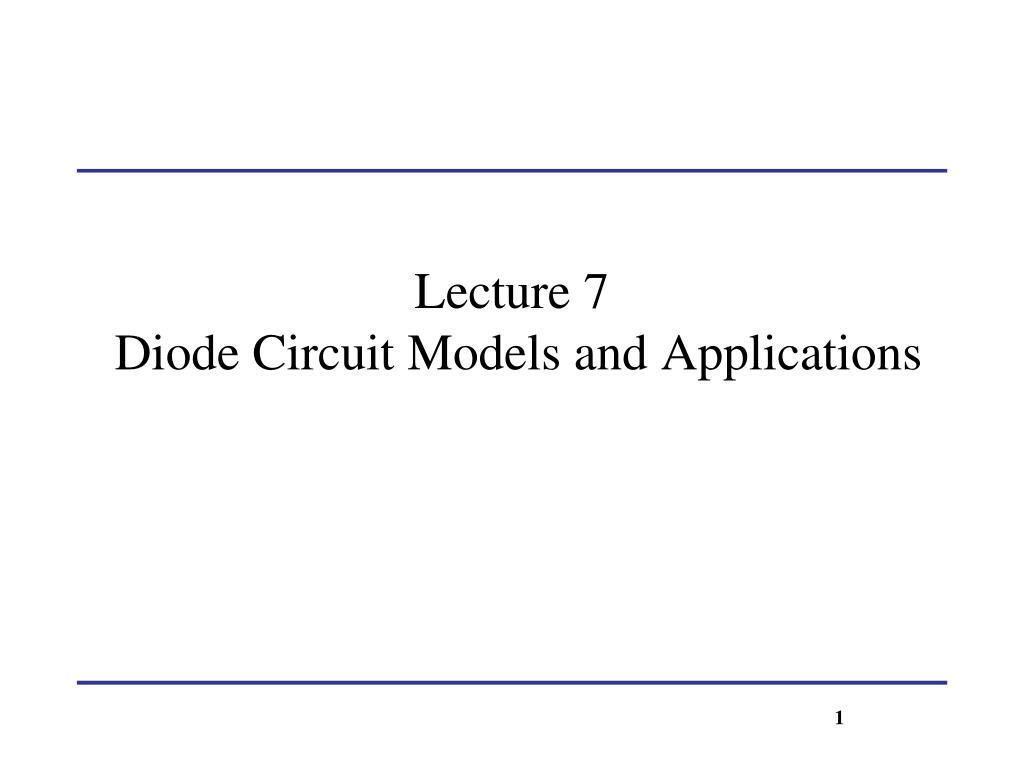Diode In Circuit
